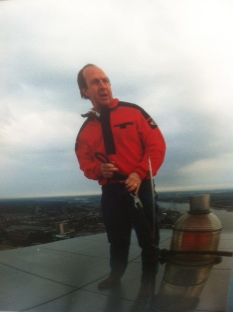 Larry Conners on top of the arch
